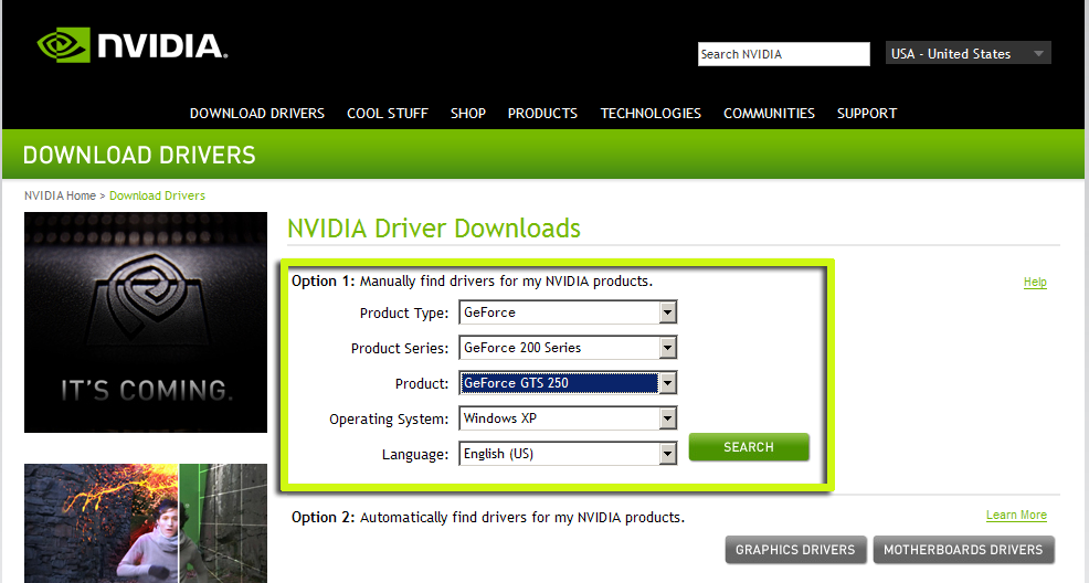 NVIDIA Drivers for Windows 81 Release Preview Now