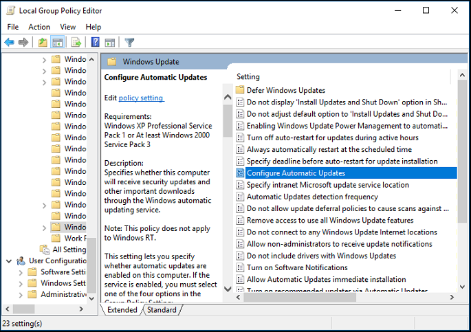 Scheduling Windows 10 updates – NewTek Knowledge Base