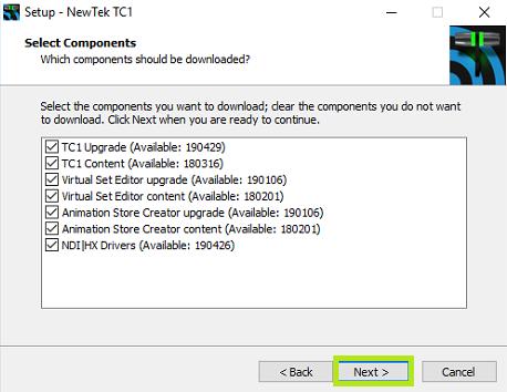 Installing TC1 Updates – NewTek Knowledge Base