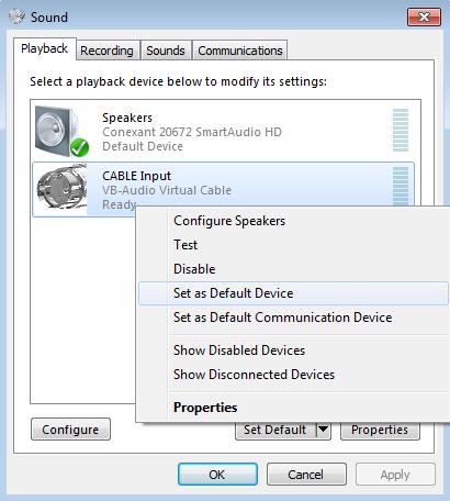 Configuring audio loopback on iVGA and NDI Scan Converter