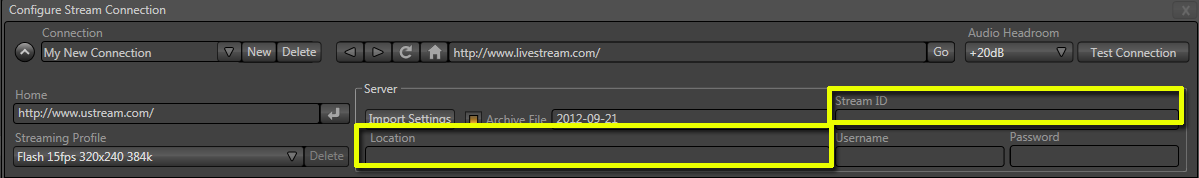 TriCaster 40 and Streaming with UStream – NewTek Knowledge Base